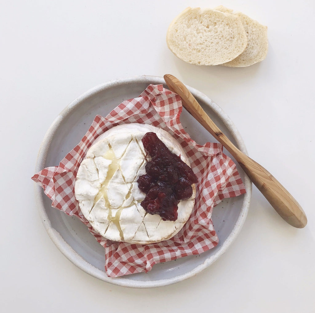 Baked Camembert with Cranberry Sauce