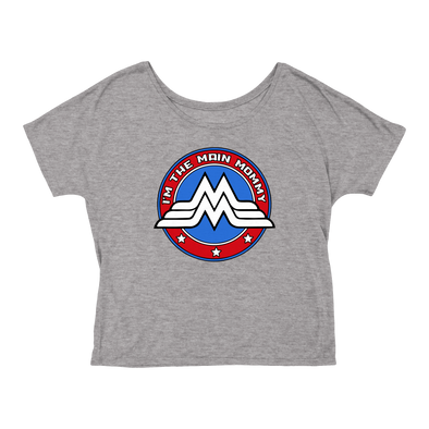 Ladies Main Mommy Flowy T-Shirt (Heather Gray)