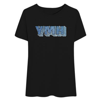 Women's YMH Jean Flowy T-Shirt (Black)
