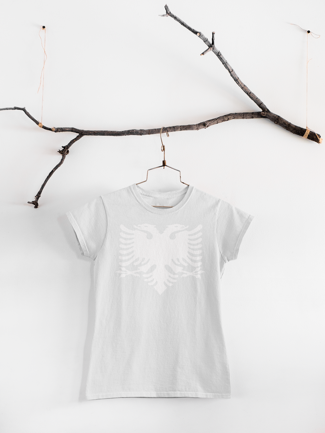 Albanian eagle Round Neck Casual (Women T-shirt)