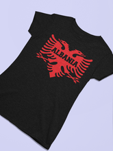 Load image into Gallery viewer, Albanian eagle with Albania text on the middle (Women T-shirt)