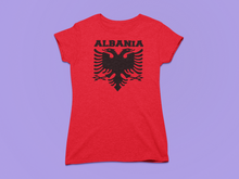 Load image into Gallery viewer, Albanian eagle with Albania text the top ( Women T-shirt)