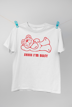 Load image into Gallery viewer, Shhh I'm Busy (Man T-shirt)