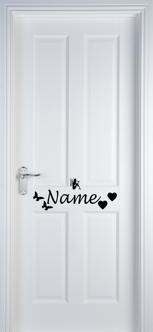Vinyl Name Door Label