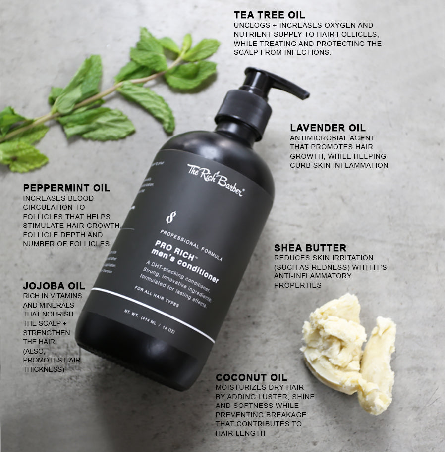 The Rich Barber DHT Blocking Conditioner Ingredients