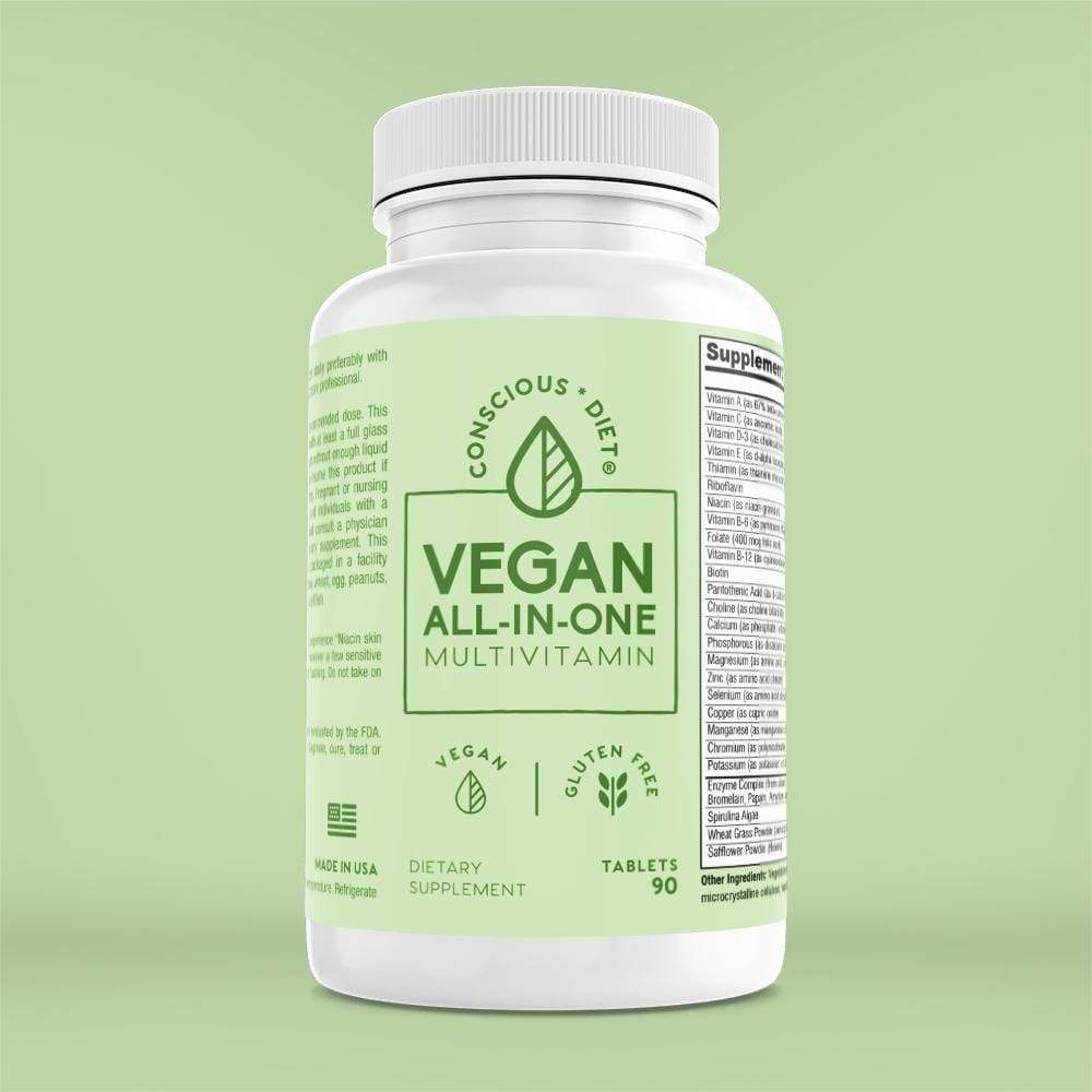 Vegan Multivitamins For Health and Wellness - Conscious Diet