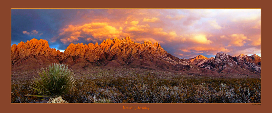 HEAVENLY SERENITY - Panoramic poster 15x36