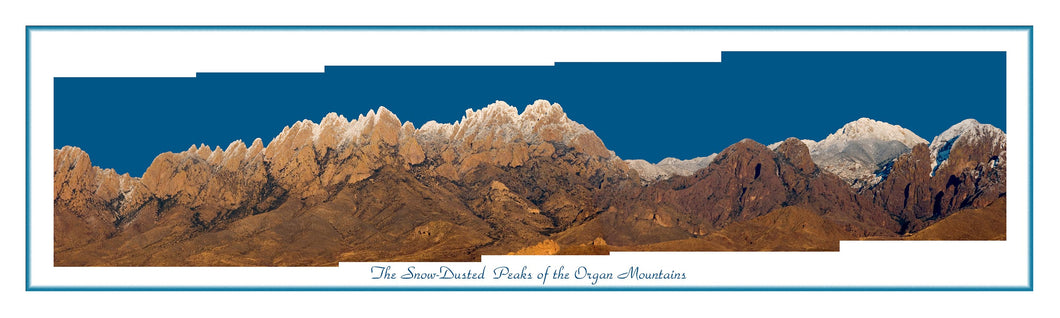 Snow Dusted Peaks of the Organ Mountains