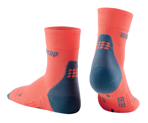 CEP Run Socks Short Cut 3.0 Coral Grey