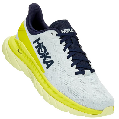 Hoka One One Mach 4 Men's Blue Flower Citrus