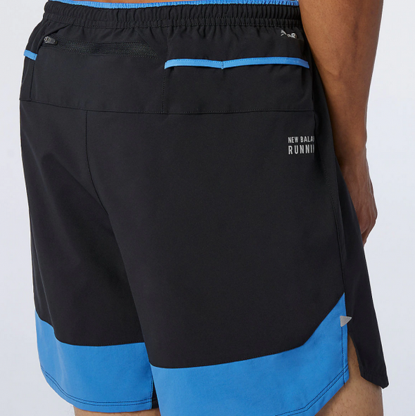 New Balance Impact Run 7 Inch Shorts Men's Faded Cobalt