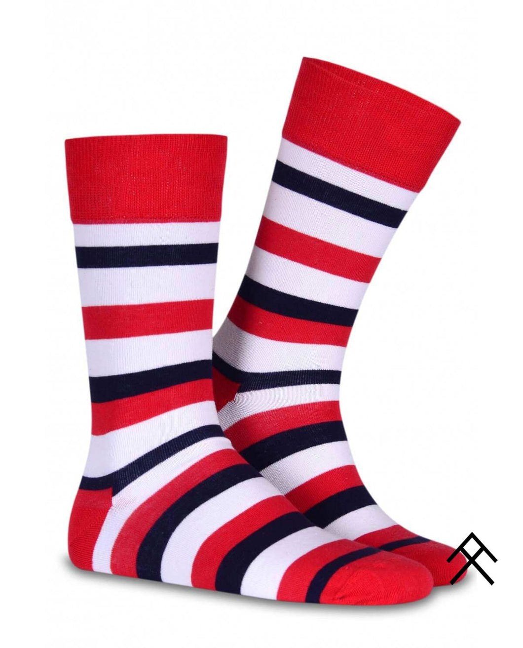 Stripe Print Red Socks