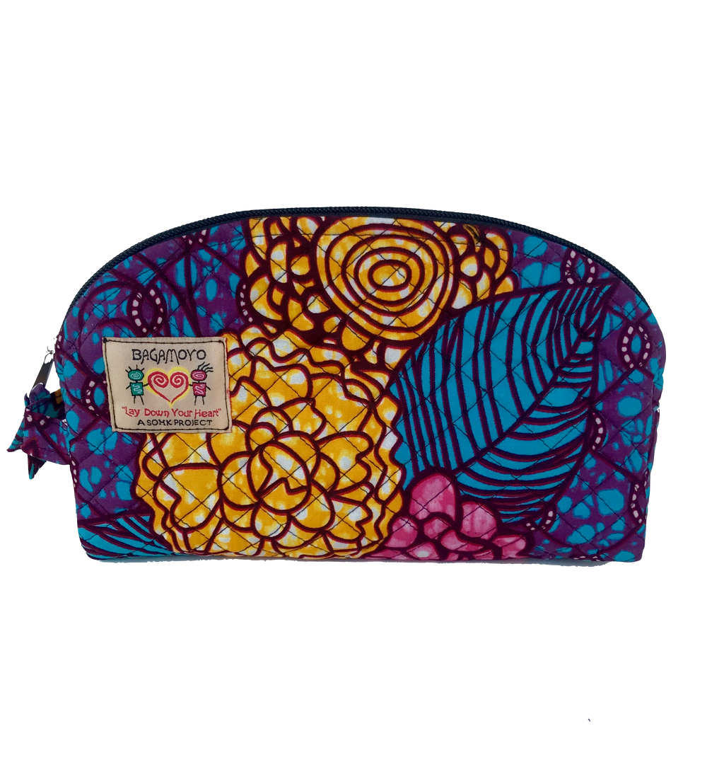 Maua Floral Kitenge - Medium Cosmetics bag