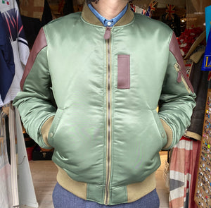 Leather Shoulder MA-1 JKT/NOR-0127