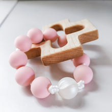 Load image into Gallery viewer, Soft pink and pearl silicone rosary ring