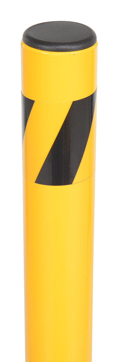 Cap on Yellow Folding Bollard
