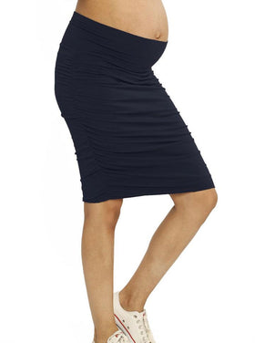The Ruched Fitted Skirt Navy