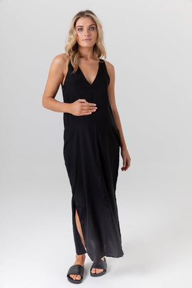 Indie Silk Dress Black