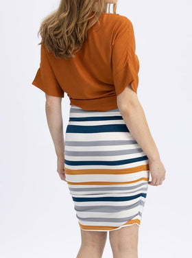 Skirt Orange/Blue Stripe