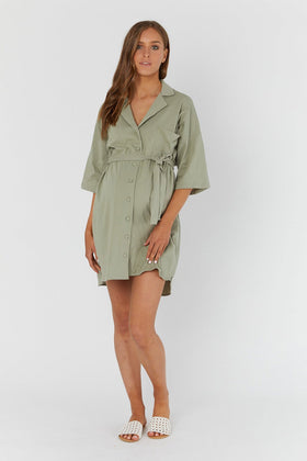 Kenny Shirtdress Olive