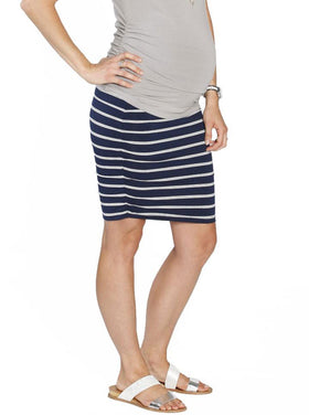 The Ruched Fitted Skirt Stripe