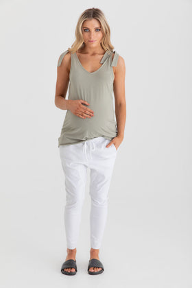 Boston Twill Pant White