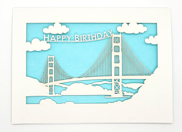 Happy Birthday · Golden Gate Bridge