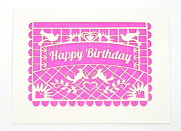 Happy Birthday · Papel Picado