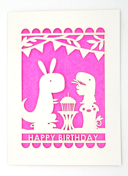 Happy Birthday · Dino & Bunny