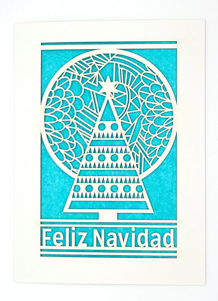 Feliz Navidad - Tree and Moon