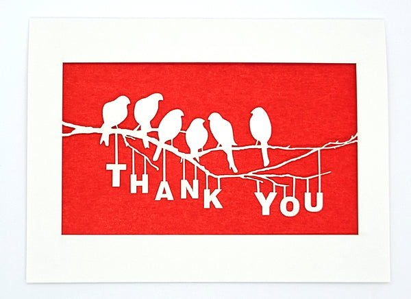 Thank You - Birds on a Branch