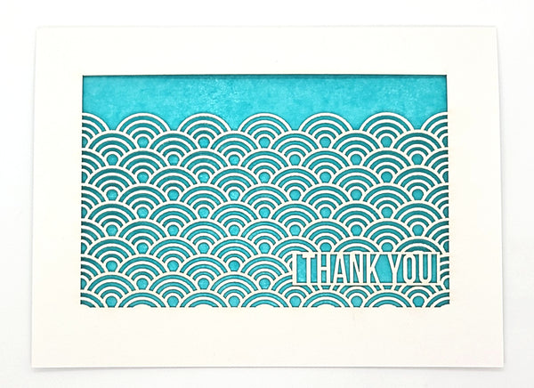 Thank You - Wave Pattern