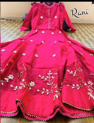 Buy 4 sets of Chanderi Gota Work Long Anarkali Style Gown