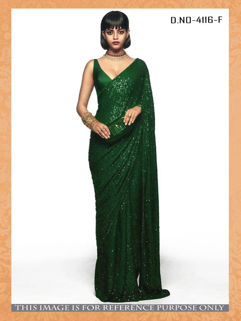 Buy High Quality Sequins Sarees 12 Colors
