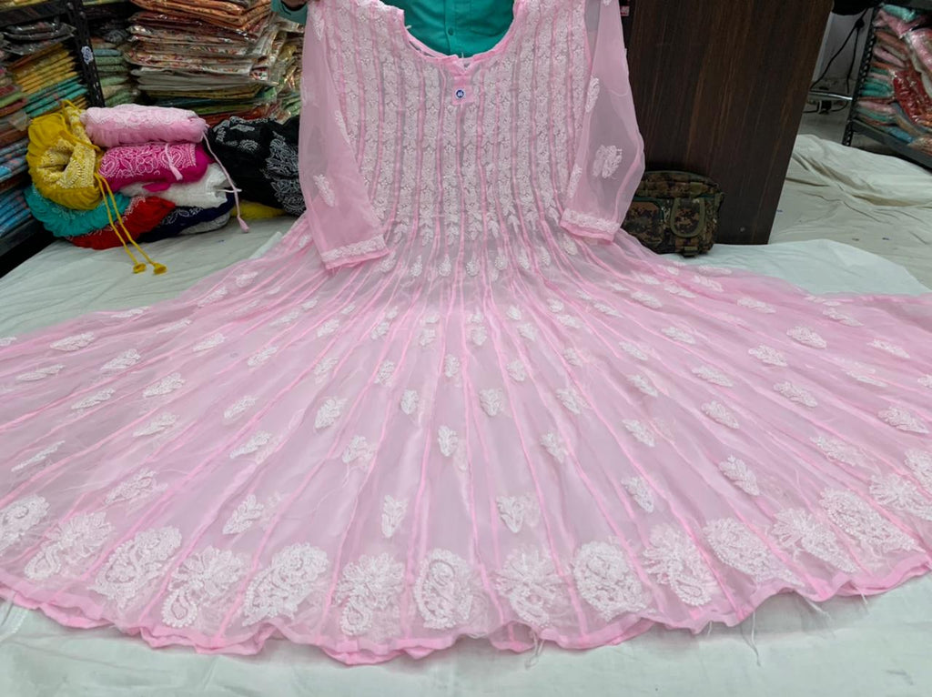 Baby Pink 56 Kali Anarkali Kurti Dress Online USA