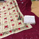Buy 10 sets Beautiful Raw Silk Gota & Hand work Dupatta with  Chikankari Anarkali & Plazoo