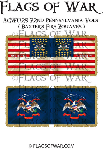 ACWU25 72nd Pennsylvania Vols ( Baxter's Fire Zouaves ) (3rd California Regiment)