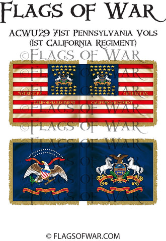 ACWU29 71st Pennsylvania Vols (1st California Regiment)