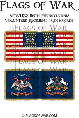 ACWU32 116th Pennsylvania Volunteer Regiment (Irish Brigade)