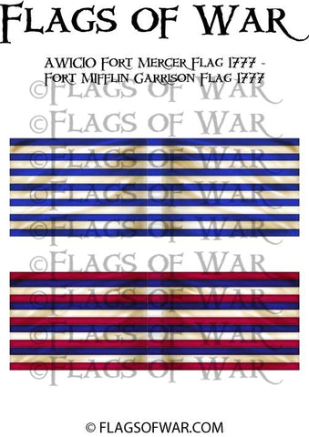 AWIC10 Fort Mercer Flag 1777 - Fort MIfflin Garrison Flag 1777