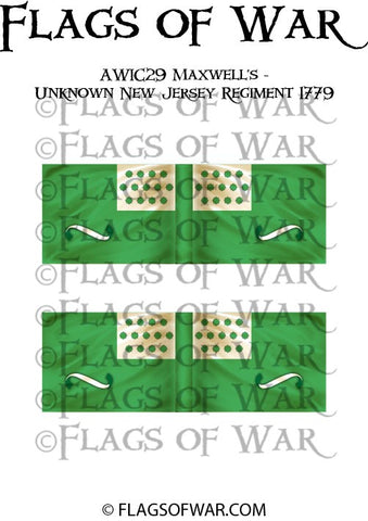 AWIC29 Maxwell's - Unknown New Jersey Regiment 1779