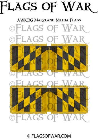 AWIC36 Maryland Militia Flags