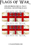 COLA11 British Royal Navy Colonial Flags