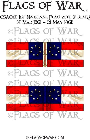 CSA001 1st National Flag with 7 stars (4 Mar 1861 – 21 May 1861)