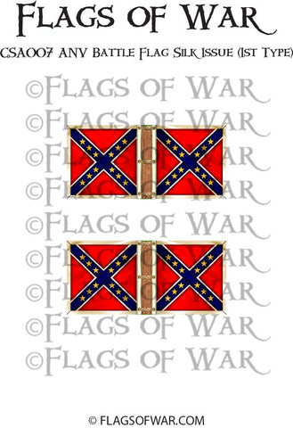 CSA007 ANV Battle Flag Silk Issue (1st Type)