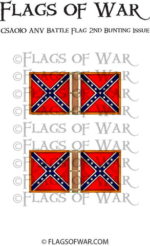 CSA010 ANV Battle Flag 2nd Bunting Issue