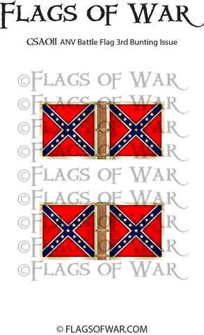 CSA011 ANV Battle Flag 3rd Bunting Issue