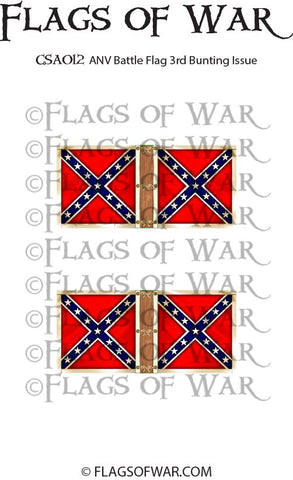 CSA012 ANV Battle Flag 3rd Bunting Issue