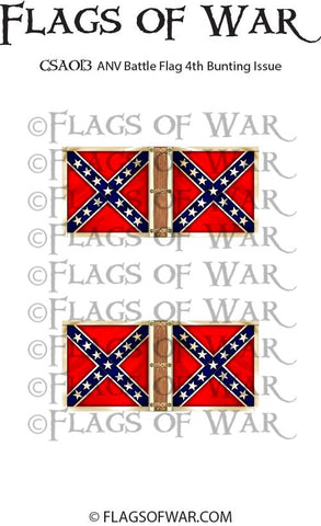 CSA013 ANV Battle Flag 4th Bunting Issue