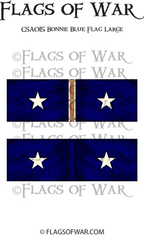 CSA015 Bonnie Blue Flag Large
